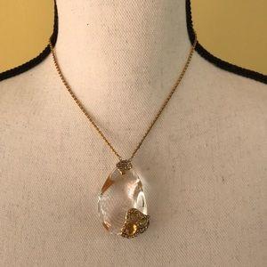 Alexis Bittar Lucite Swarovski Crystal Necklace